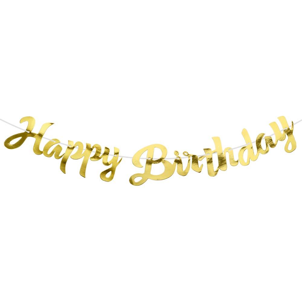 Happy Birthday Girlang i  Guld