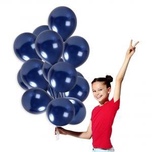 Marin Blå Tjocka Latex Ballonger. 10 Pack.