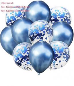 Ballong bukett i Blå. 10 pack.