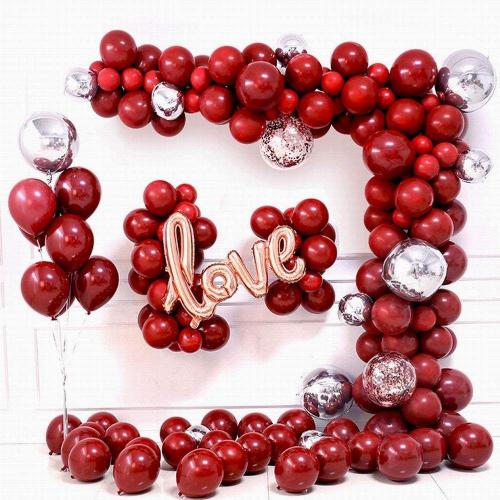 DIY Ballongbåge - LOVE Cherry Röd. 84 Delar