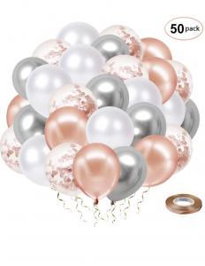 Ballong Bukett i RosaGuld/Silver Chrome. 50 Pack