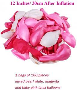 Ballong Bukett i Rosa/PärlVit. 100 delar.