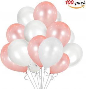 Ballong Bukett i RosaGuld/PärlVit. 100 delar.