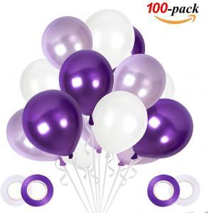 Ballong Bukett i Lila/PärlVit. 100 delar.