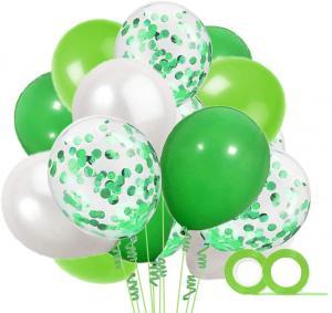Ballong Bukett i Grön/PärlVit. 40 delar.