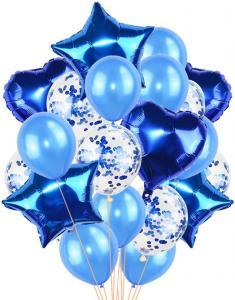 Ballong Bukett Blå. 36 Delar