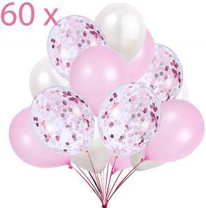 Ballong Bukett i Ljus Rosa Metallic. 60 delar.