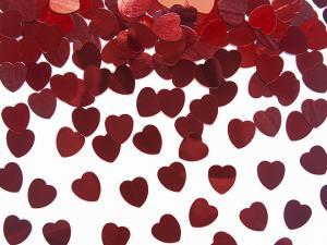 Konfetti. Röd Hjärta.10mm. 30g