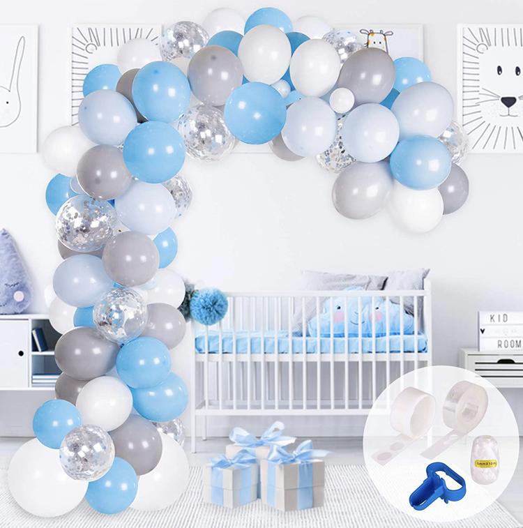 DIY Pastell Blå Ballongbåge. 85 Delar