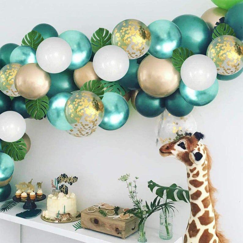 DIY Ballongbåge Safari . 75 Delar