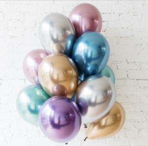 Chrome Ballong bukett i olika färger. 12 Pack.