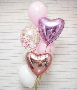 Ballong Bukett - Mitt Hjärta. 10 Pack