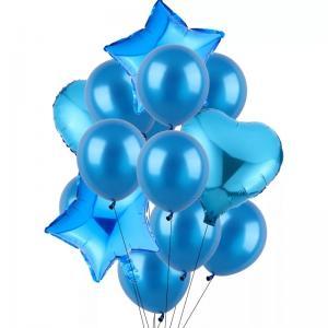 Ballong Bukett i Blå. 14 Pack