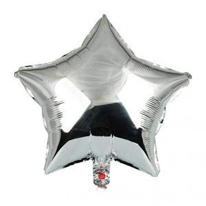 Silver Stjärna Folie Ballong