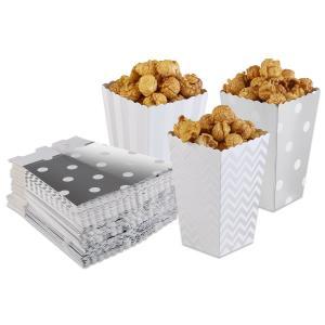 Popcornboxar i Silver. 8 Pack