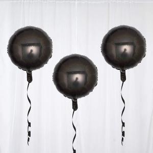 Rund Svart Folie Ballong