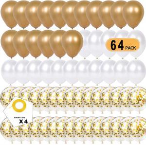 Ballong Bukett i Guld Chrome. 60 delar.