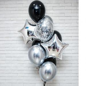 Ballong Bukett i Silver/Svart Chrome.