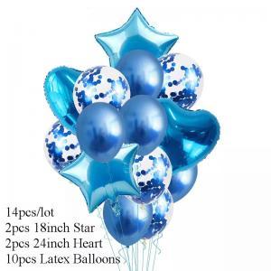 Ballong Bukett Blå. 14 Delar