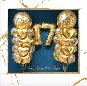 17th Birthday Luxury Ballong Bukett.