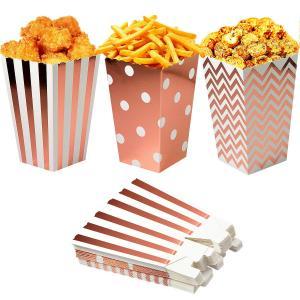 Popcornboxar i RosaGuld. 8 Pack.