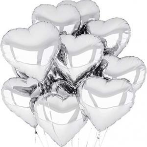 Silver Hjärta Folie Ballong