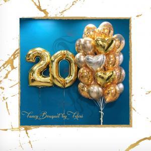 20th Birthday Luxury Ballong Bukett.