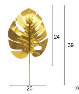 Aloha Guld Blad - Dekorationsmaterial. 5 Styck. 24cm x 20cm