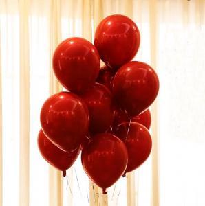 Dubbel Tjocka Cherry Röd Latex Ballonger. 10 pack. 30cm