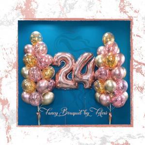 24th Birthday Luxury Ballong Bukett.