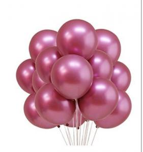 Chromeballonger i Rosa. 10 pack.