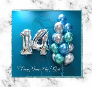 14th Birthday Luxury Ballong Bukett.