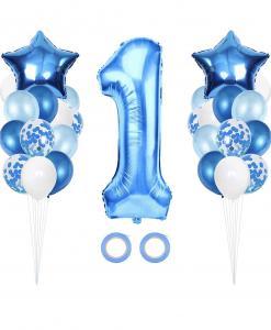 1st Birthday Ballong Bukett i Blå.