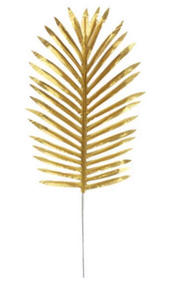 Aloha Guld Blad - 5 Styck. 53cm x 22cm