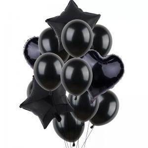 Ballong Bukett i Svart. 14 Pack