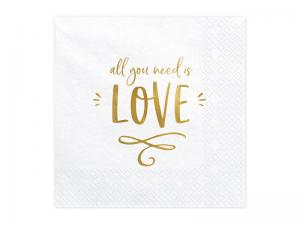 Servett - Love. 33x33cm. 20st.