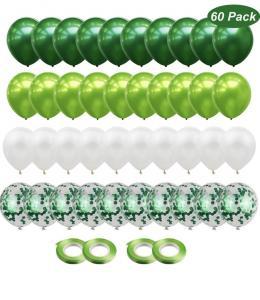 Ballong Bukett i Grön/Vit. 60 delar.