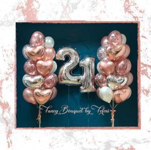 21th Birthday Luxury Ballong Bukett.