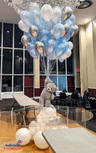 Ballong Bukett i ljusblå/Silver/Pärlvit. 40 Delar