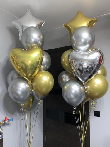 Ballong Bukett i Silver/Guld. 24 Delar