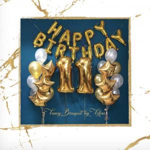 11th Birthday Luxury Ballong Bukett.