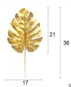 Aloha Guld Blad - Dekorationsmaterial. 5 Styck. 21cm x 17,5cm
