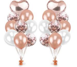 Ballong Bukett i RosaGuld. 20 delar.