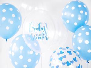 Baby Shower Blå Ballong med tryck. 10 pack. 30cm
