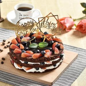 Cake Topper Happy Birthday i Guld.
