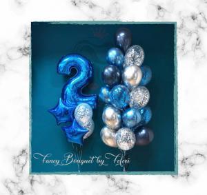 2nd Birthday Luxury Ballong Bukett.