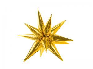Folieballong Stjärna 3D, 70cm, guld