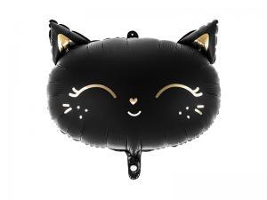 Folie Ballong Katt, 48x36cm, Svart.
