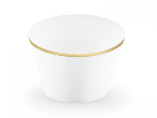 Muffinsformar i Vit. 4.8x7.6x4.6cm. 6st
