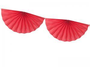 Girlang Rosetter, Röd, 3m